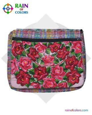 Guatemalan Pink Messenger bag by Rain of Colors
