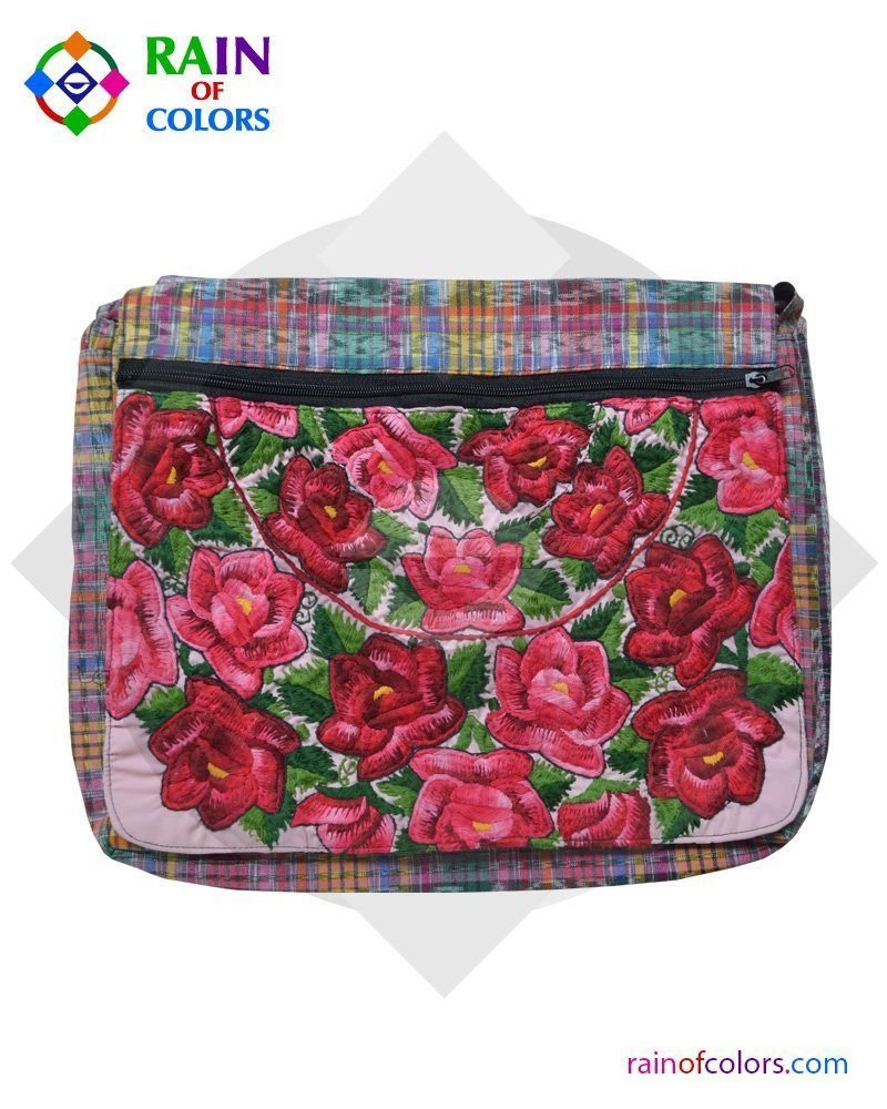 Guatemalan Pink Messenger bag by Rain of Colors