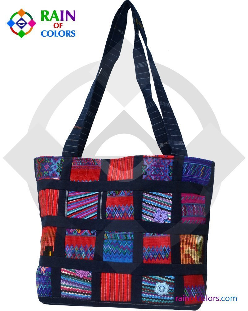 Patchwork Bags from Guatemala handmade by Rain of Colors