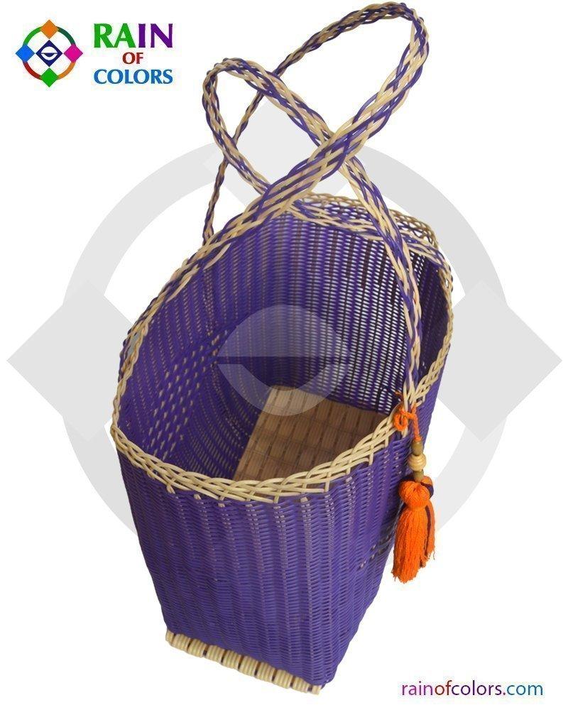 plastic market basket from guatemala